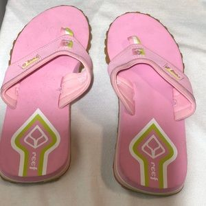 Reef Leather Thong Flip Flops